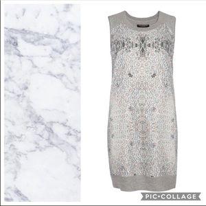All Saints Ditsy Tank Gray Knit Dress Sz 6